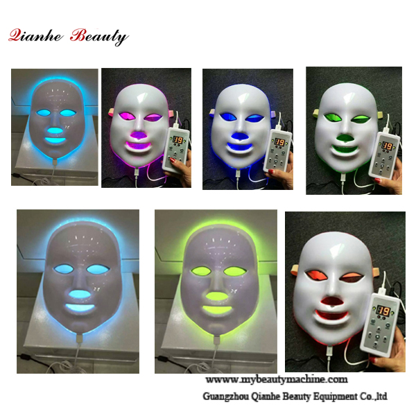 7 color LED PDT light therapy facial mask
