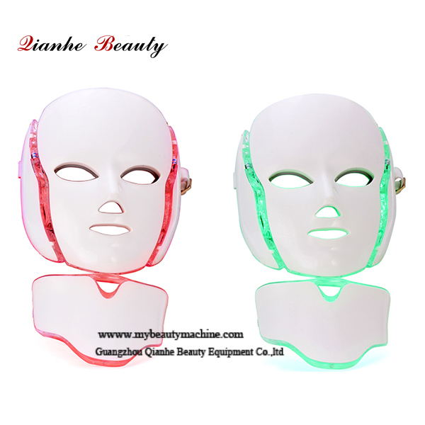 BIO 7 color LED light face neck beauty mask