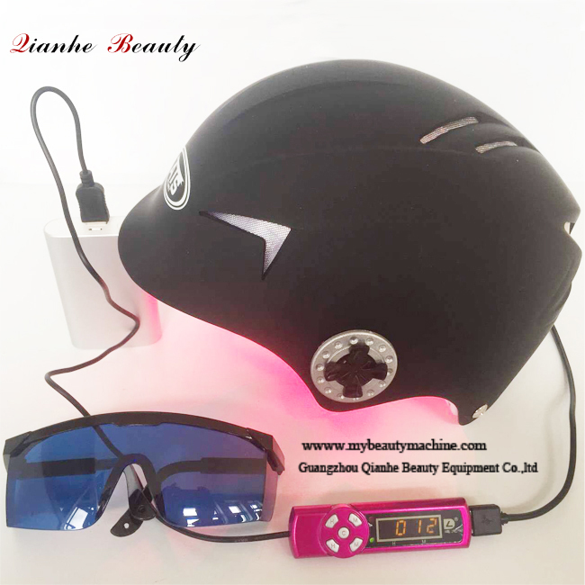 Diode laser hair regrowth helmet