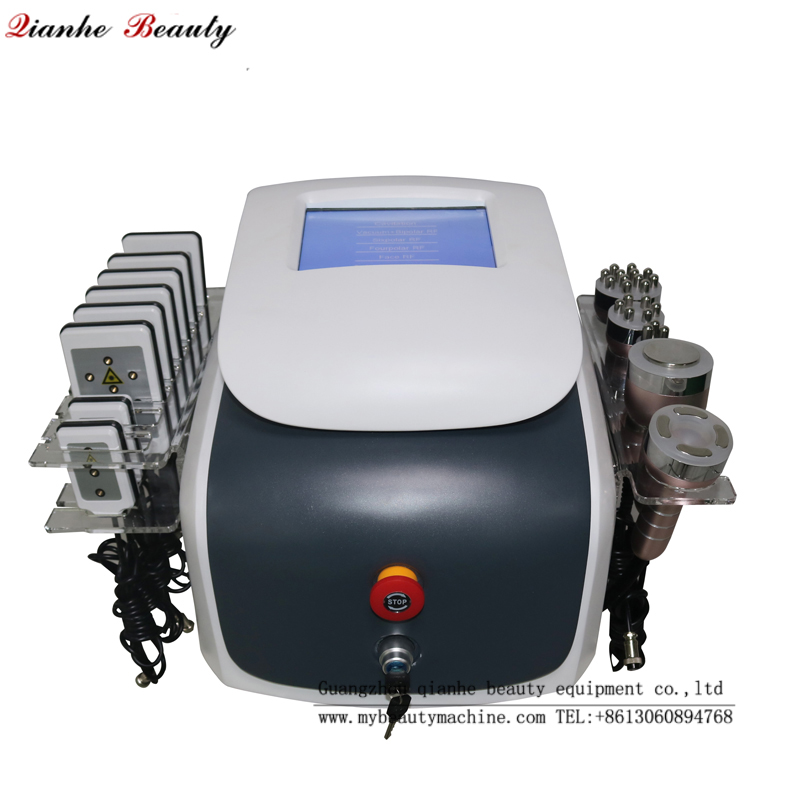 6 in 1 cavitatiom RF laser lipo slimming machine